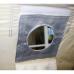 Термостойкая накладка на окно под газоотводную трубу d 100 мм