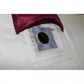 Термостойкая накладка на окно под газоотводную трубу d 50 мм